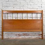Paul McCobb Planner Group Mid Century Modern Full-Size Headboard Brass & Birch