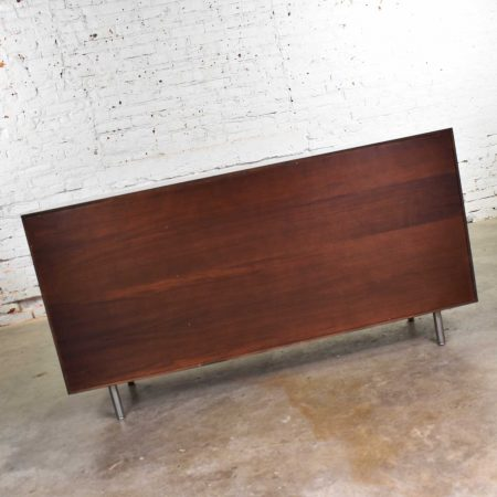 Early Basic Cabinet Series Walnut Sideboard Credenza by George Nelson for Herman Miller