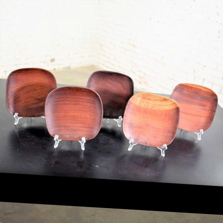 MCM Taverneau Mahogany Square Dinnerware Set of 25 by Pantalcraft & Others
