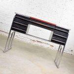 Art Deco Machine Age International Style Chrome & Black Desk Gilbert Rohde Attribution