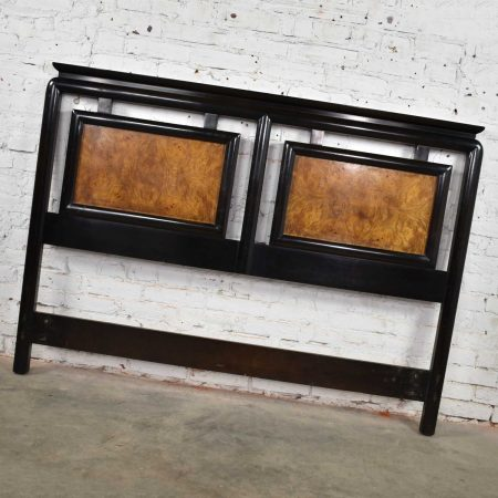 Chin Hua Black & Burlwood Full-Size Headboard by Raymond Sobota for Century Furniture