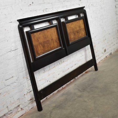 Chin Hua Black & Burlwood Full-Size Headboard by Raymond Sobota for Century Furniture