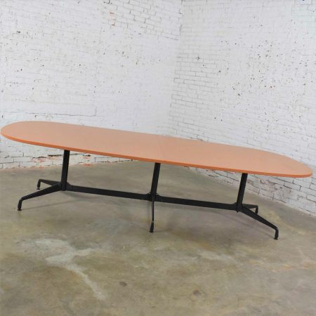 Extra Long 120 Inch Segmented Base Elliptical Table by Eames for Herman Miller