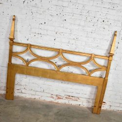 Hollywood Regency Gold-Leaf Queen-Size Headboard