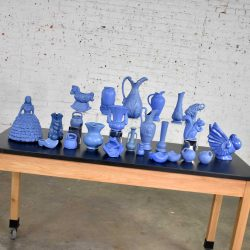 24 Piece Collection of Blue Niloak Mid Century Pottery