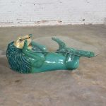 Mexican Paper Mache Lion Coffee Table by Sermel Tonala Style of Sergio Bustamante
