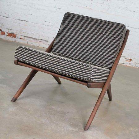 Scandinavian Modern Scissor Lounge Chair by Folke Ohlsson for Dux