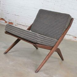 Scandinavian Modern Scissor Lounge Chair by Folke Ohlsson for Dux