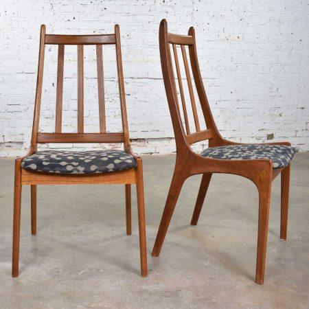 Pair of Scandinavian Modern Teak Side Chairs by Nordic of Ontario Canada