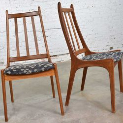 Pair of Scandinavian Modern Teak Side Chairs by Nordic of Ontario Canada