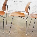 Vintage Mid Century Modern Eames DCM Dining Chairs for Herman Miller Set of 4