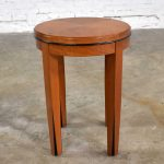 Small Round Art Deco Style Side Table or End Table by Hickory Business Furniture