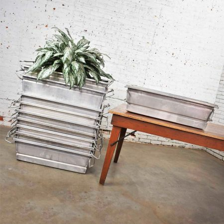 Vintage Aluminum Troughs Planters Sinks Containers Vessels 10 Sold Separately