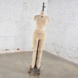 Vintage Wolfform Co. Female Mannequin Full Body Dress Form 1986-12 Cast Iron Base