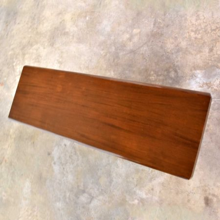 Vintage Walnut Stained Mahogany Bench Coffee Table Style of Frank Lloyd Wright for Henredon