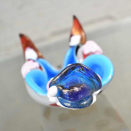 Vintage Murano Venetian Glass Clown Dish Mid Century Modern