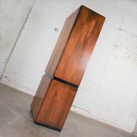 Vintage Modern Walnut Entertainment Cabinet Storage Armoire by Barzilay Furniture Mfg.