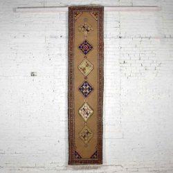 "Vintage Persian Serab Sarab Style Wool Hand Woven Runner 2'5"" x 10'11.5"" from Iran"
