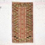 Vintage Wool Turkish Milas Style Woven Made Rug 6' 7 x 3' 6.5