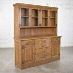 Vintage A. Brandt Ranch Oak Sideboard China Hutch Cabinet Western Rustic