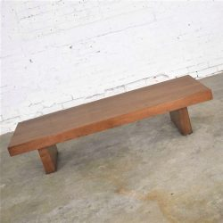 Show-Pieces Mid Century Modern or Asian Low Coffee or Teahouse Table Bench in Walnut