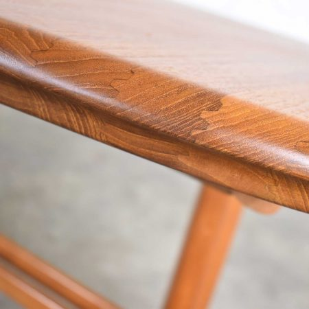 Vintage Scandinavian Modern Teak Oval Expanding Dining Table Attributed to Dyrlund 2 Leaves