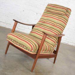 Norwegian MCM Scandinavian Modern High Back Reclining Lounge Chair Attributed to Arnt Lande