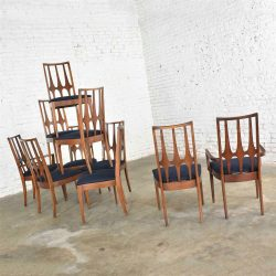 Brasilia Dining Chairs Original Vintage Set of 10 Mid Century Modern 1962-1970
