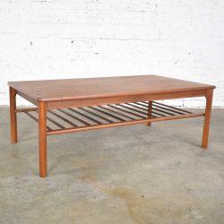 Vintage Danish Mid-Century Modern Coffee Table in Teak by Mobelfabrikken Toften