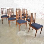 Brasilia Dining Chairs Original Vintage Set of 10 Mid Century Modern 1962-1970