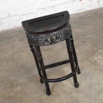 Vintage Asian Half Moon Console Table Side Table Demilune Table or Stand