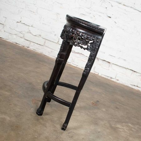 Vintage Asian Half Moon Console Table or Stand