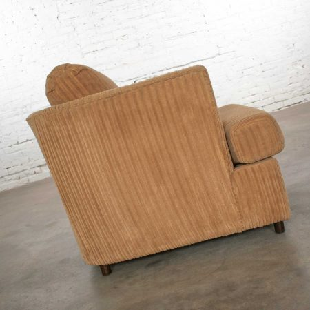 Modern Tub Lounge Chair with Camel Colored Wide Wale Corduroy Style of Harvey Probber