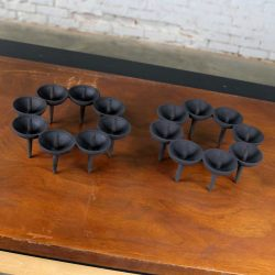 Dansk Black Iron Design with Light Series Candle Holders by Borje Rajalin
