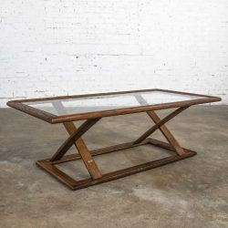 Vintage StavOak Coffee Table from Jack Daniels' Barrel Staves by Jobie G. Redmond  1981