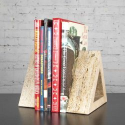 Modern Travertine Delta Shape Book Ends Attributed to Fratelli Mannelli for Raymor
