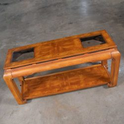 Chinoiserie Chow Leg Ming Style Sofa Console Table Attributed to Schnadig Intl. Furniture