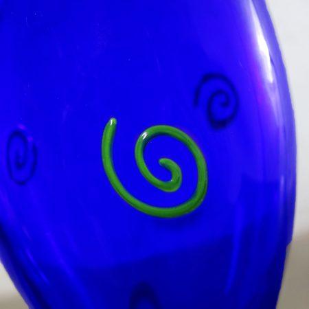 Czech Cobalt Hourglass Art Glass Vase Shafaq Malik Ahmed for Barovier & Toso