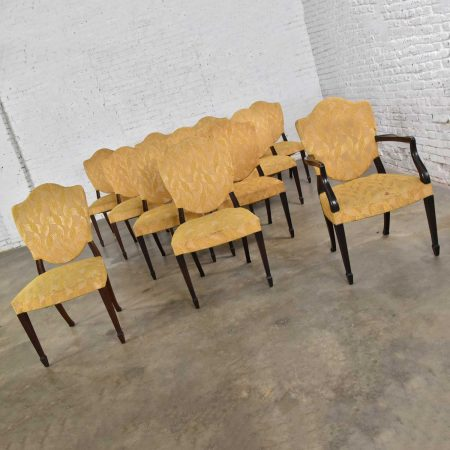 Georgian Revival Sheraton or Federal Style Upholstered Shield Back Dining Chairs Set of 12https://warehouse414.com/wp-content/uploads/2020/12/DSC_0074.jpg