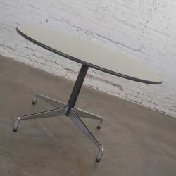 Eames Herman Miller Universal Base Round Table Off White Laminate Top
