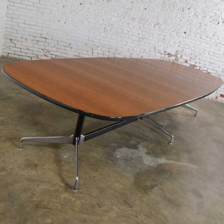 Extra Long Segmented Universal Base 2 Piece Elliptical Table by Eames for Herman Miller