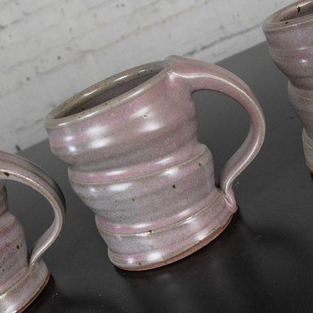 Purple Ceramic Handmade Hot Chocolate Set 1 Pitcher & 4 Cups