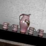 Purple Ceramic Studio Pottery Handmade Hot Chocolate Set 1 Pitcher & 4 Cups