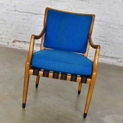 MCM Grand Haven Chair by Jack Van Der Molen for Jamestown Lounge in Blue Fabric