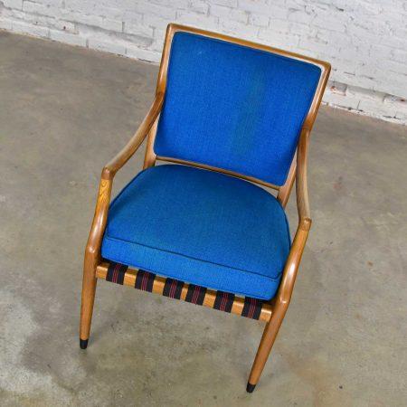 MCM Grand Haven Chair by Jack Van Der Molen for Jamestown in Blue Fabric