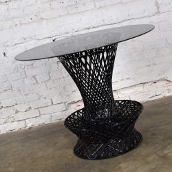 MCM Spun Fiberglass Bistro Table, Lamp Table, or Bar Stool Attr. Russell Woodard