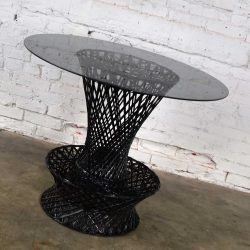 MCM Spun Fiberglass Bistro Table, Lamp Table, or Bar Stool Attr. Russell Woodard