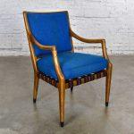 MCM Grand Haven Chair by Jack Van Der Molen for Jamestown Lounge in Blue Fabric