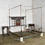 Custom Mystical Bronze King Bed and Two Nightstands by John Forsythe, Mid-Summer Night's Dream