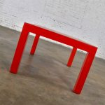 MCM Chinese Red Painted Rectangle Parsons Coffee Table
